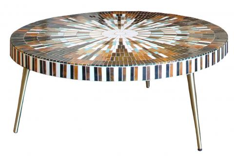 Super Mid Century Mosaic Tile Sunburst Coffee Table Ocoug Best Dining Table And Chair Ideas Images Ocougorg